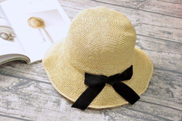 紙線編織帽 日系風格 純手工編織 可水洗 (多款裝飾) 1