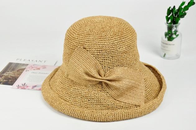 紙線編織帽 日系風格 純手工編織 可水洗 自然色 (多款裝飾) 1