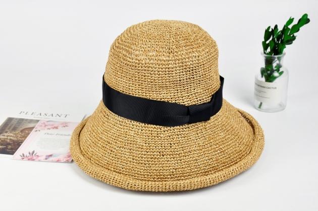 紙線編織帽 日系風格 純手工編織 可水洗 自然色 (多款裝飾) 2
