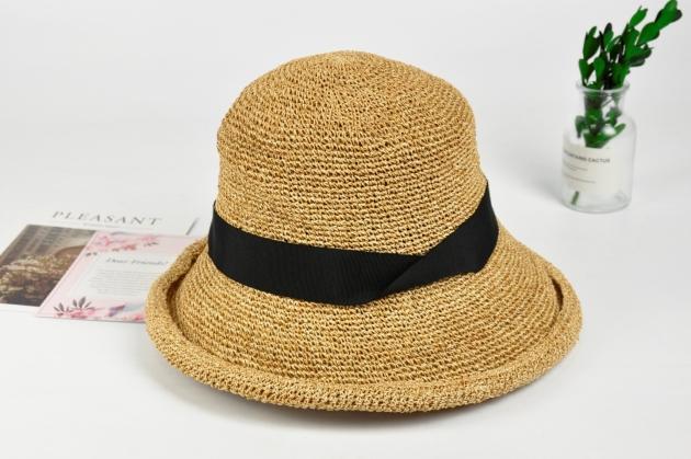 紙線編織帽 日系風格 純手工編織 可水洗 自然色 (多款裝飾) 4