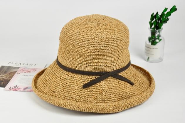 紙線編織帽 日系風格 純手工編織 可水洗 自然色 (多款裝飾) 7