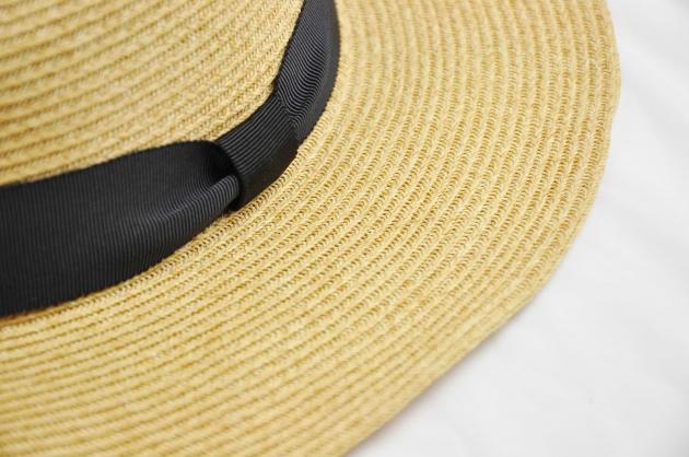 羅緞紙編紳士帽-自然 5
