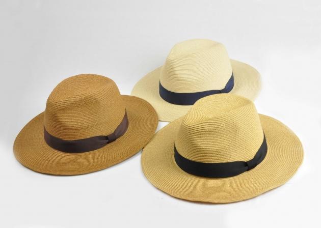 羅緞紙編紳士帽-自然 2