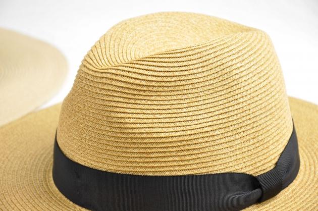 羅緞紙編紳士帽-自然 4