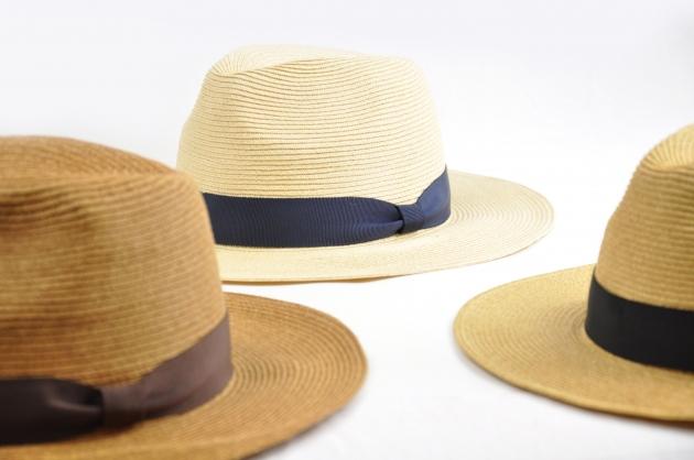 羅緞紙編紳士帽-自然 3
