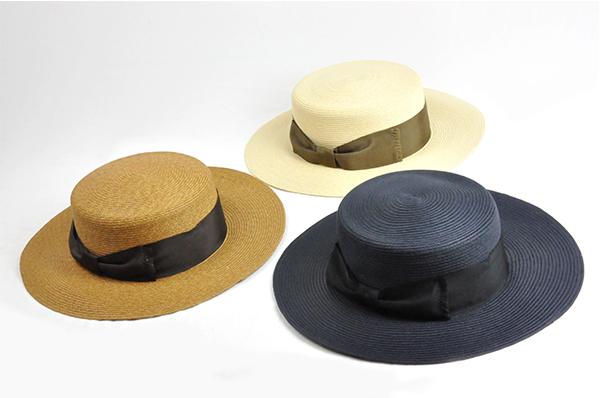 平頂紙編遮陽帽-深藍色 2