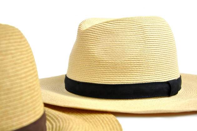 時尚紙編紳士帽-自然 2
