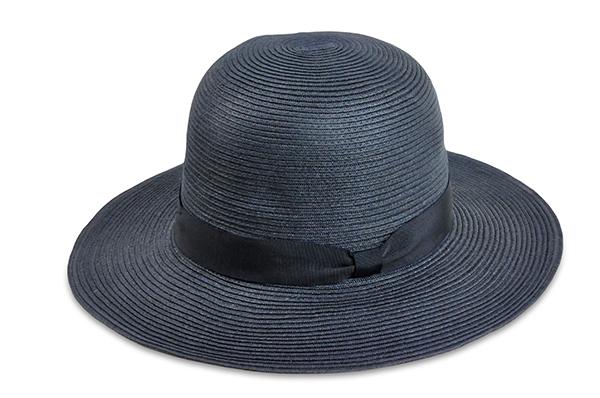圓頂紙編遮陽帽-深藍色 1