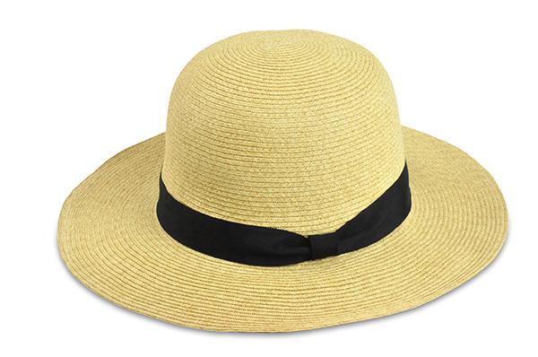 圓頂紙編遮陽帽-自然 1