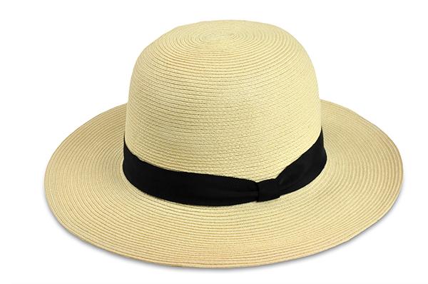 圓頂紙編遮陽帽-米白色 1