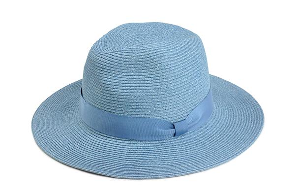 羅緞紙編紳士帽-水藍 1