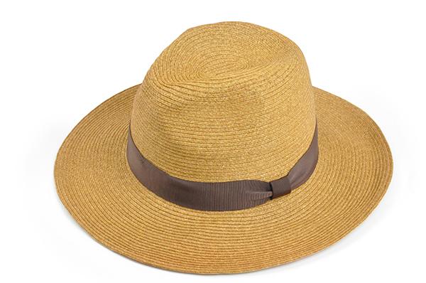 羅緞紙編紳士帽 -棕色 1