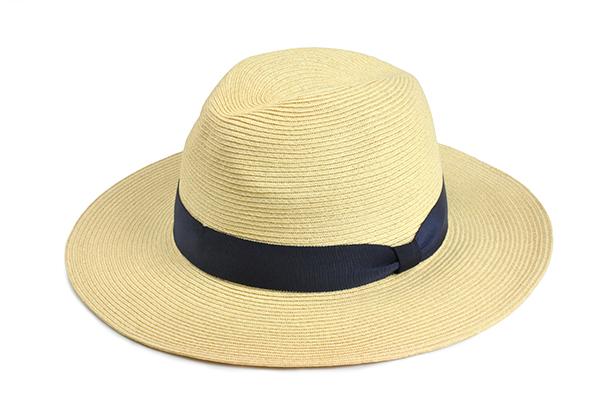 羅緞紙編紳士帽-米白 1