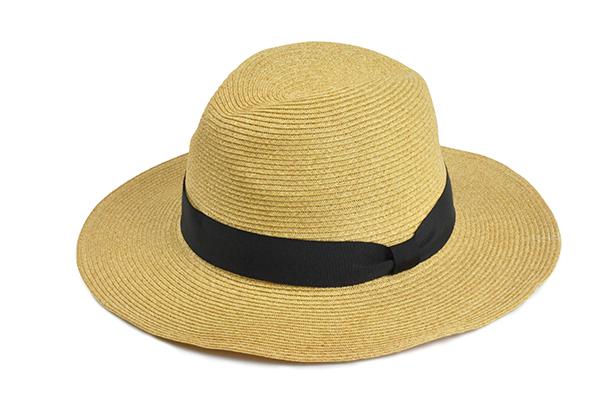 羅緞紙編紳士帽-自然 1
