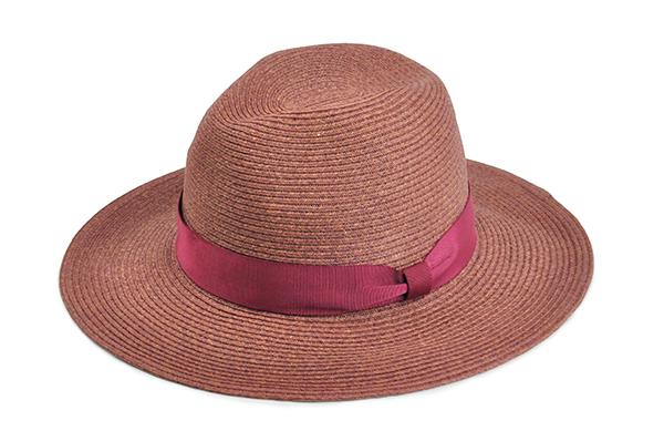 羅緞紙編紳士帽-酒紅 1