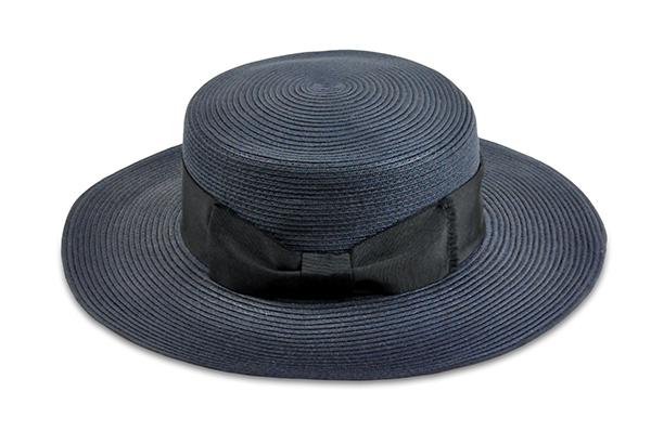 平頂紙編遮陽帽-深藍色 1