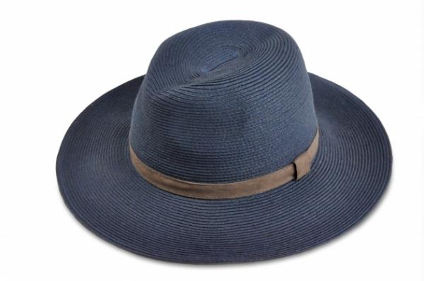 時尚紙編紳士帽-深藍 1