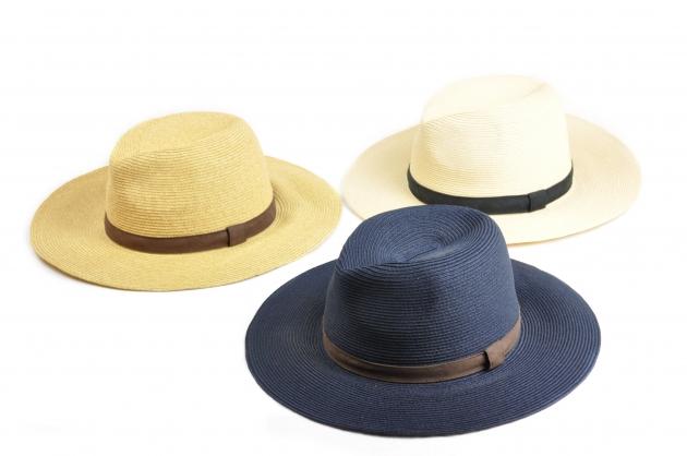 時尚紙編紳士帽-自然 5