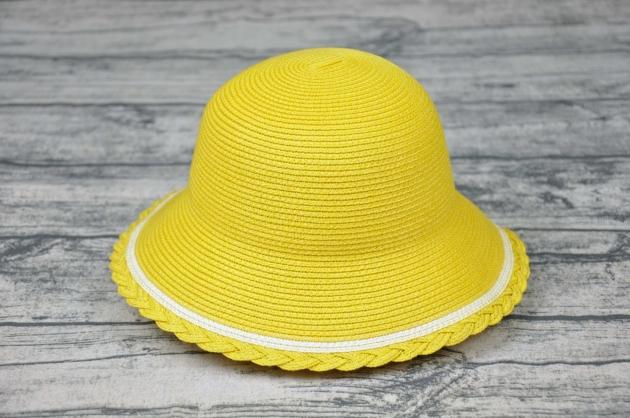 花邊淑女童帽 (亮黃) 1