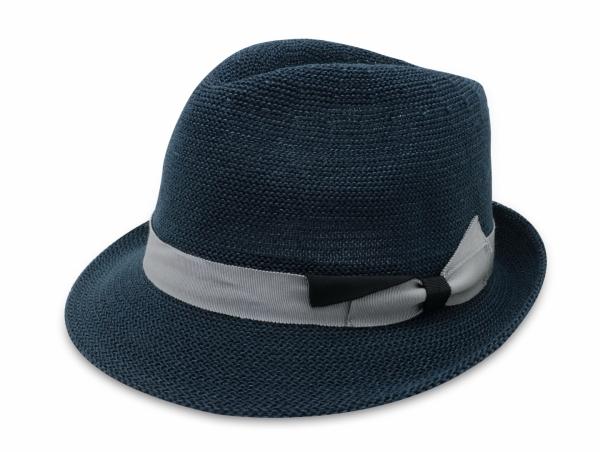 春夏韓版爵士帽-深藍 1
