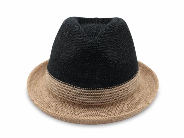 雙色簡約爵士帽-自然黑 2