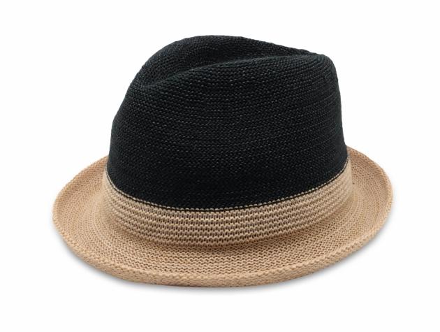 雙色簡約爵士帽-自然黑 1