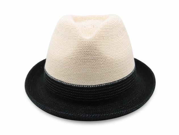 雙色簡約爵士帽-米白黑 2