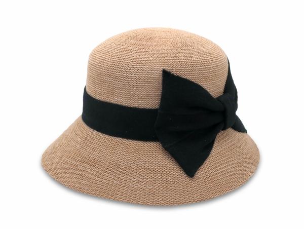 英倫蝴蝶結淑女帽-自然</br>(左側裝飾) 1