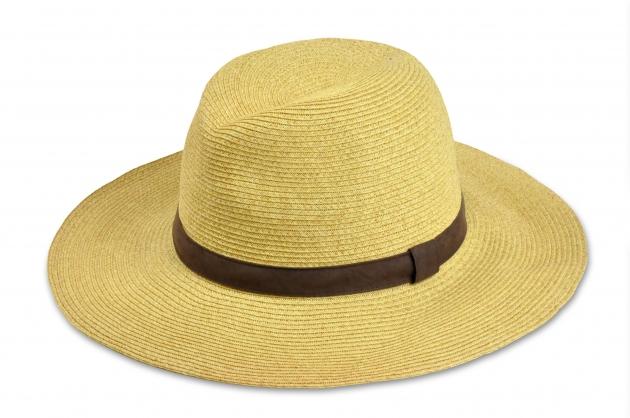 時尚紙編紳士帽-自然 1